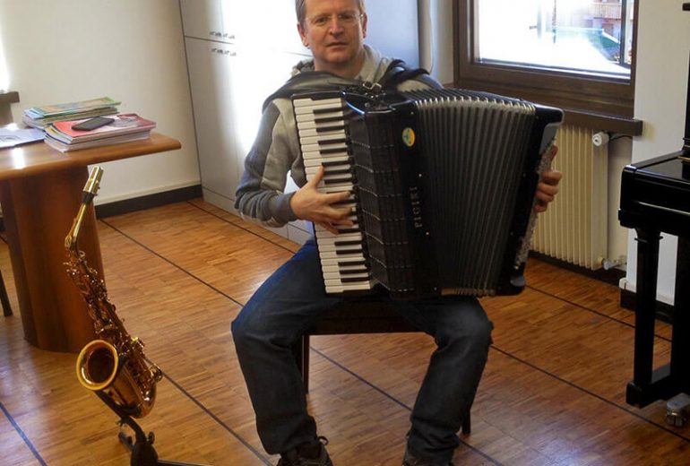Davide Partel insegnante di sassofono e fisarmonica