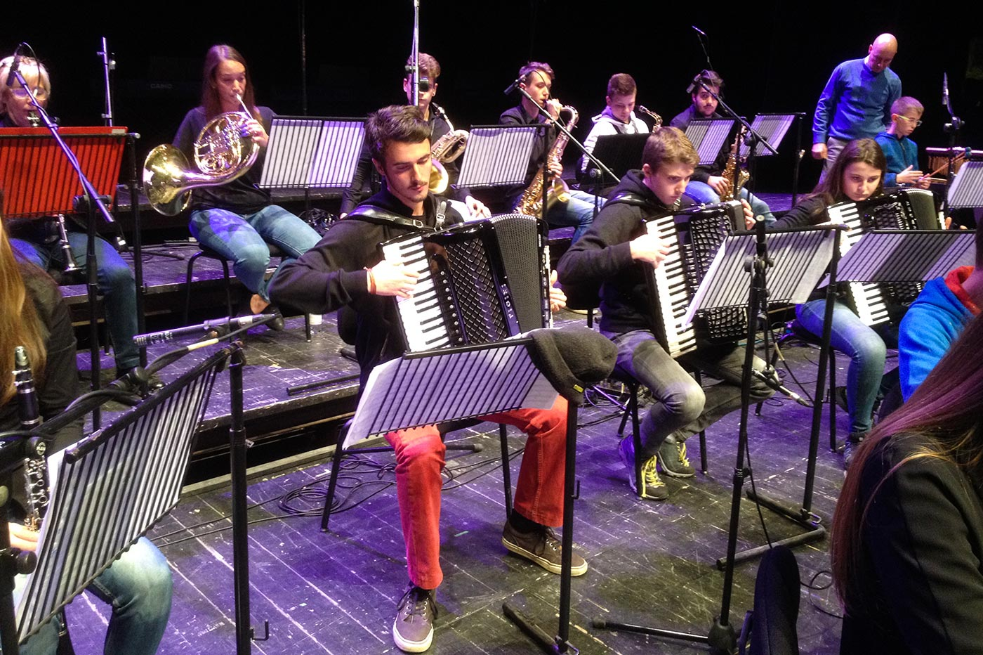 Fisarmoniche dell'orchestra giovanile