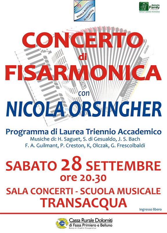 Concerto di fisarmonica con Nicola Orsingher